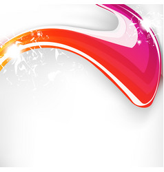 Abstract wave colorful background with spark vector