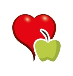 Apple fruit food design vector