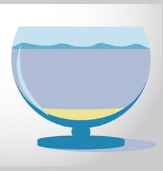 aquarium silhouette colorful vector image