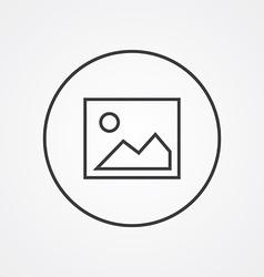 blank photo outline symbol dark on white vector image vector image