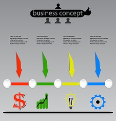 Business concept Infographics vector image vector image
