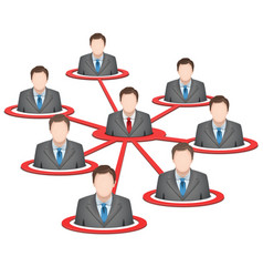 Business network vector