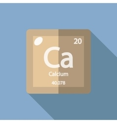Chemical element calcium flat vector