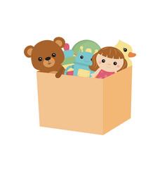 Children toy box children toy box vector