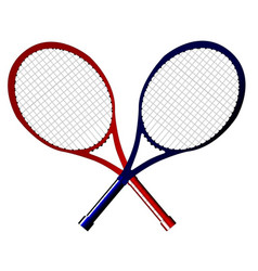 Crossed rackets vector