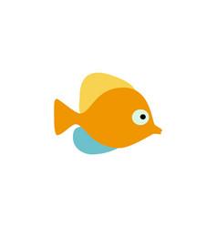 cute fish icons set fish flat vector image vector image