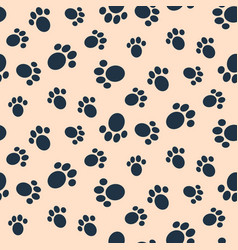 Dog paw print seamless pattern vector