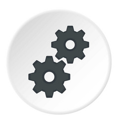 Gear icon circle vector
