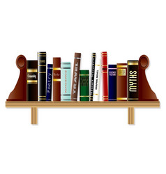 Genre book shelf vector