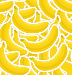 Group of banana seamless background vector image