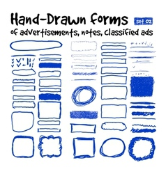 Hand-drawn forms vector