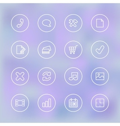 Iconset for mobile app ui transparent clear vector