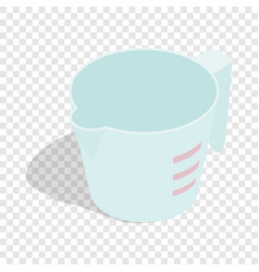 Measuring cup isometric icon vector