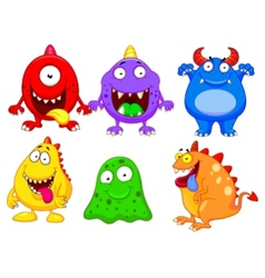 Monster cartoon collection vector