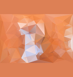 orange lowpolygonal background vector image