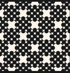 Pattern with big and small geometric shapes vector
