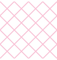 Pink white grid chess board diamond background vector
