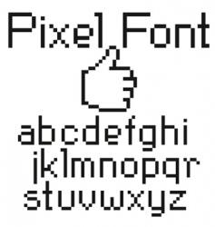 pixel font vector image vector image