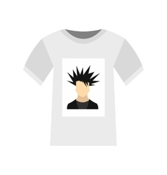 Printing photo on t-shirt icon flat style vector image vector image