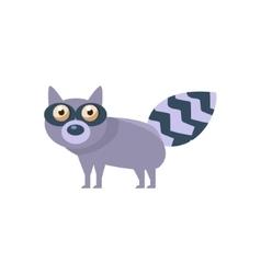 Raccoon simplified cute vector