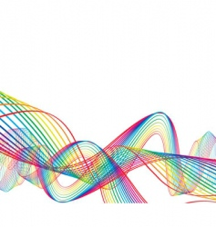 rainbow wave line background vector image vector image