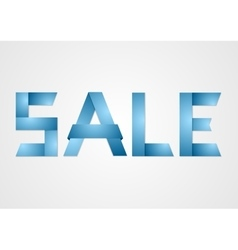 Sale paper corporate sign vector image vector image