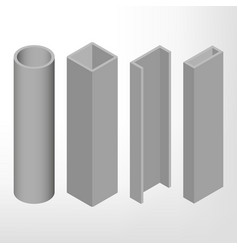 steel beam isometric vector image