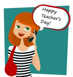 teachers' day background vector image vector image