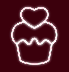 the image of the cupcake vector image