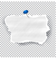 Torn piece of white paper with ripped edges and vector