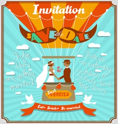 Vintage wedding invitation 5 vector