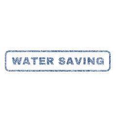water saving textile stamp vector image