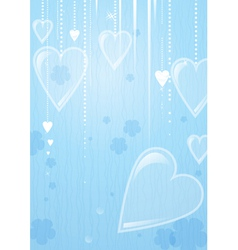 Heart valentines day background vector image