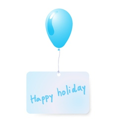 Balloon with holiday tag vector