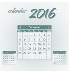 December 2016 vector