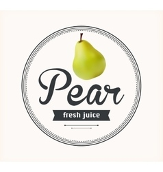 Pear juice detailed label vector