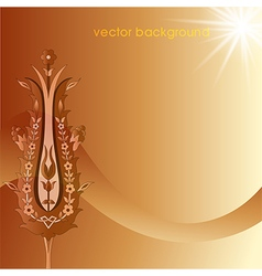 Decorative cover template vector