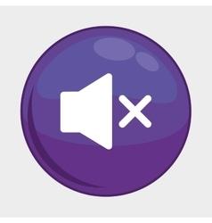 Sound button icon social media design vector