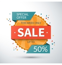 Sale banner special offer template vector