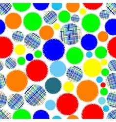 Seamless circles abstract ornament vector