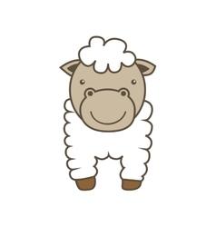 Sheep cartoon icon animal farm design vector
