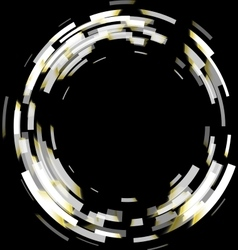 Abstract black and white technology circles vector image