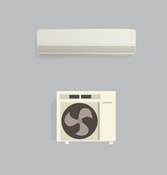 Air conditioner with shadow and isolated vector