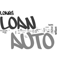 auto loan kw text word cloud concept vector image vector image