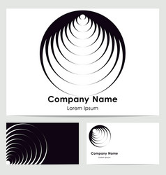 Business card design with logo vector