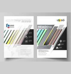 Business templates for brochure flyer cover vector