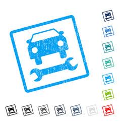 Car repair icon rubber watermark vector