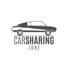 Car share logo design Car Sharing concept vector image vector image