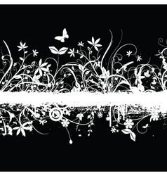Chaotic floral grunge vector