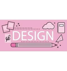Design Graphic Work Space vector image